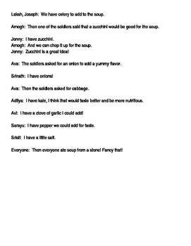 Stone Soup play script