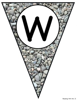 Stone Welcome Pennant Banner Bunting