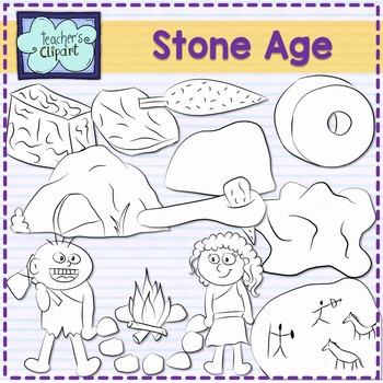Stone age clip art {Social Studies clipart}