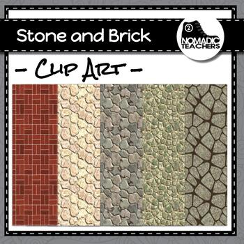 Stone and Brick Background Digital Papers - 10 patterns as 300dpi PNGs