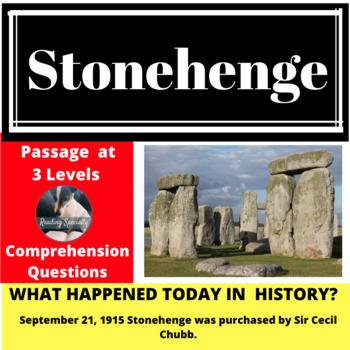 Stonehenge Differentiated Reading Passage, September 21