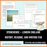 Stonehenge - London England - History, Facts, Coloring Pag