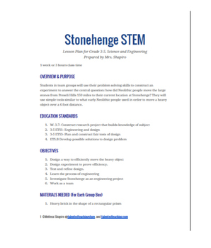 STEM Stonehenge Activity-Uses History to Teach Engineering