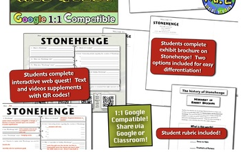 Stonehenge: Students Complete Interactive Stonehenge Webquest & Travel Brochure!