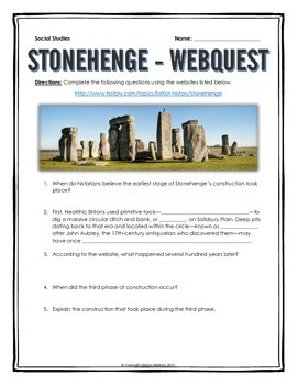 Stonehenge - Webquest with Key