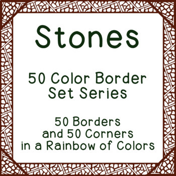 Stones - 50 Color Border Set Series Bulletin Board Corners