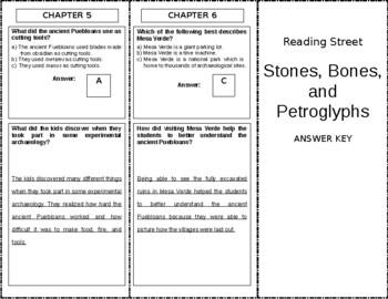 Stones, Bones, and Petroglyphs - 6th Grade Reading Street
