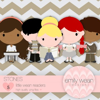 Stones - Little Readers Clip Art