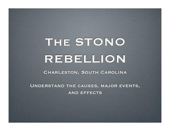 Stono Rebellion Lesson with Simulation, Socratic Dialogue, etc