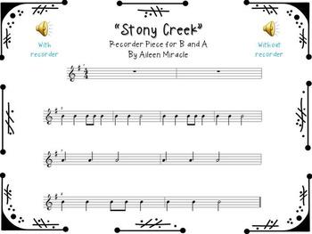 Stony Creek {A Recorder Freebie}