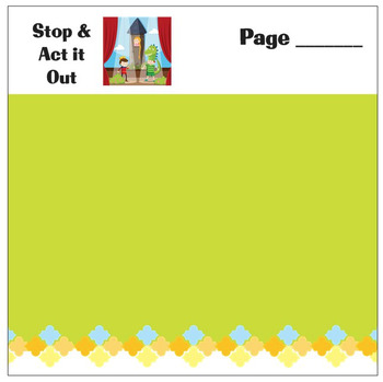 Stop & Act It Out Sticky Notes for Teachers & Students