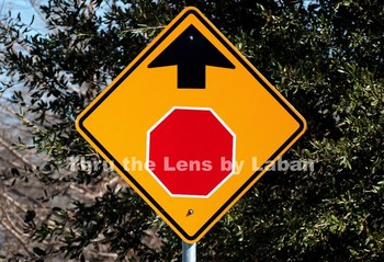 Stop Sign Ahead Stock Photo #31