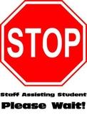 Stop - Bathroom Sign (Special Education)