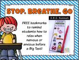 Stop. Breathe. Go {Bookmark-Test Anxiety Technique}
