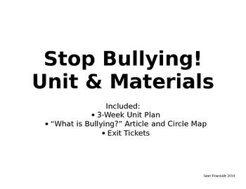 Stop Bullying! Bundle