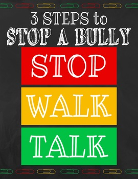 Cute 3 Steps to Stop a Bully Poster