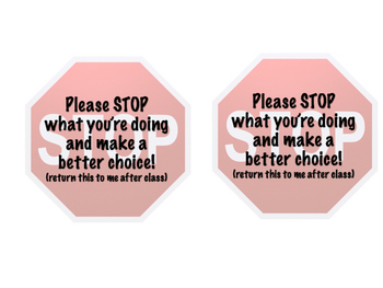 Stop - Classroom Management