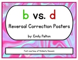b vs. d Reversal Correction Posters (a.k.a. Stop Confusing