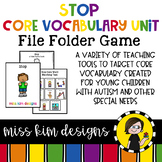 STOP Core Vocabulary Bundle for Special Education Teachers