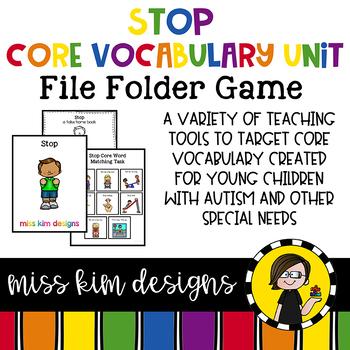 STOP Core Vocabulary Bundle for Special Education Teachers