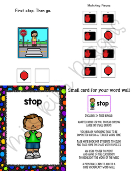 STOP Core Vocabulary Unit for Special Education Teachers