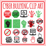 Stop Cyber Bullying Signs / Symbols / Icons Clip Art Set for Commercial Use