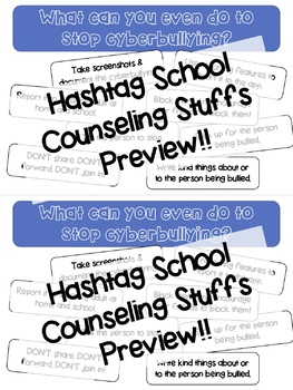 Stop Cyberbullying Tips Handout