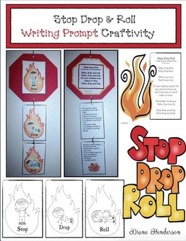 Fire Safety Activities: Stop Drop & Roll Writing Prompt Craft
