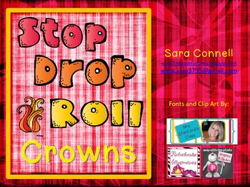 Stop, Drop and Roll Fire Safety Crowns