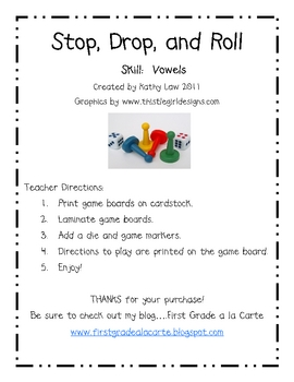 Stop, Drop, and Roll--Vowel Games