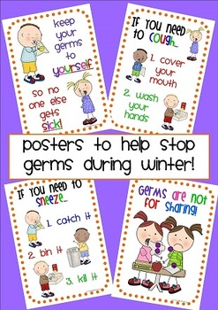 Stop Germs - Cold/Flu posters