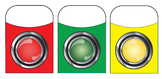 Stop Go & Caution Lights - Library Pockets