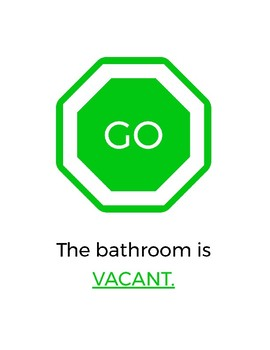 Stop & Go Classroom Bathroom Sign
