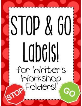 Stop & Go Writing Folder Labels