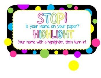Stop, Highlight!