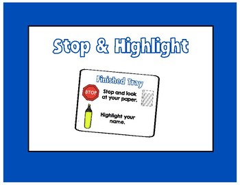 Stop & Highlight Your Name