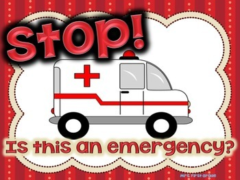 """FREE """"Stop! Is this an Emergency?"""" Poster"""