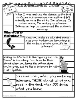 Stop & Jot: Making Inferences