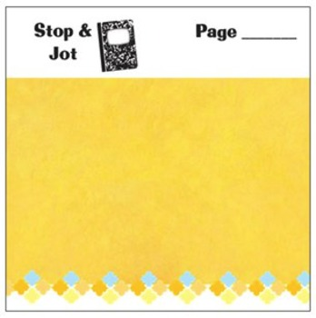 Stop & Jot Sticky Notes for Teachers and Students