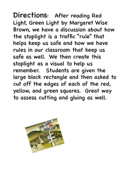 Stop Light Art Project - Red Light, Green Light by Margaret Wise Brown.