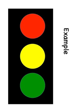 Stop Light Art Project - Red Light, Green Light by Margare