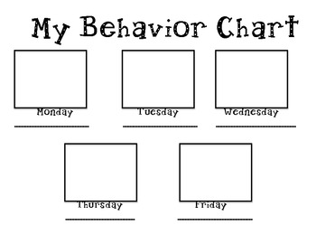 Stop Light Behavior Chart