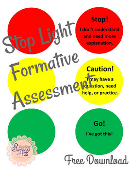 Stop Light Formative Assessment