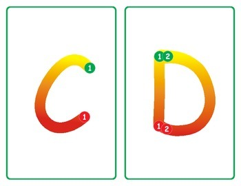 Stop Light Letter Tracing Cards - Capital Letters