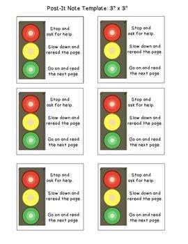 Stop Light Sticky Note Template