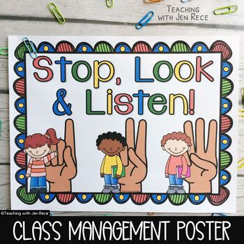 Back to School: Stop, Look and Listen Poster