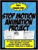 Stop Motion Animation Project for History, Science, Math or Language Arts