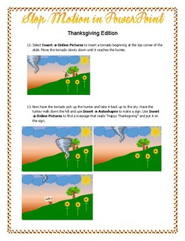 Stop Motion PowerPoint Thanksgiving Edition
