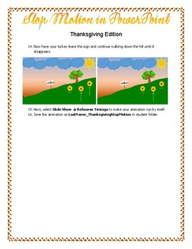 Creating a Moving Story in PowerPoint/Stop Motion Thanksgiving Edition