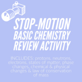 Stop- Motion Video Making Basic Chemistry Review Activity